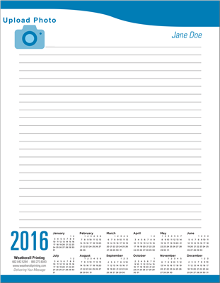 Personalized Calendar Pad